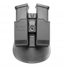 Dvigubas dėtuvės dėkliukas Glock dėtuvėms 9 mm.