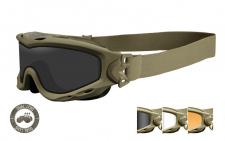 Taktiniai balistiniai akiniai Wiley X  SPEAR Dual Smoke/Clear/Rust Tan Frame ( goggle ))