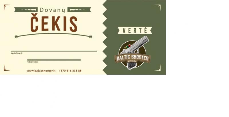 Baltic shooter dovanų kuponas