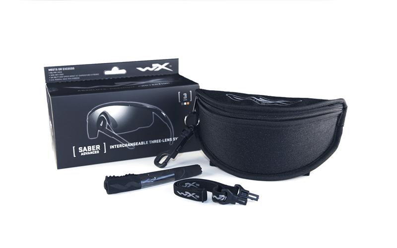 Taktiniai apsauginiai akiniai WileyX Saber 308 (3 lęšiai)